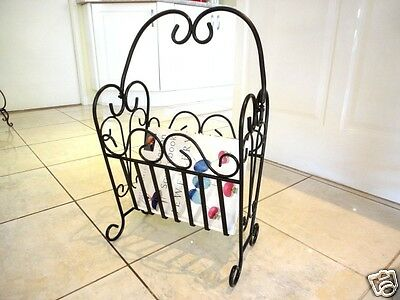 Wrought Iron Magazine Rack Elegant French Style D 002