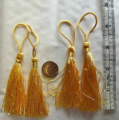 Pack of gold key tassels 5 10 or 20 for sewing curtains haberdashery upholstery