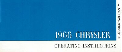 1966 Chrysler Owners Manual User Guide Reference Operator Book Fuses Fluids