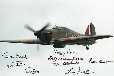 WW2 HURRICANE multi signed Battle of Britain ACES x 8