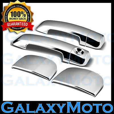 07-14 TOYOTA TUNDRA Double Cab Chrome 2 Door Handle no Passenger Keyhole Cover