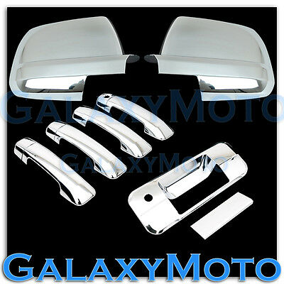 07-13 TOYOTA TUNDRA CREWMAX Mirror+Chrome 4 Door Handle+Tailgate w.keyhole Cover