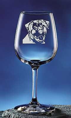 Water Glass ROTTWEILER Frieze Boxed 36cl Crystal Stemless Wine