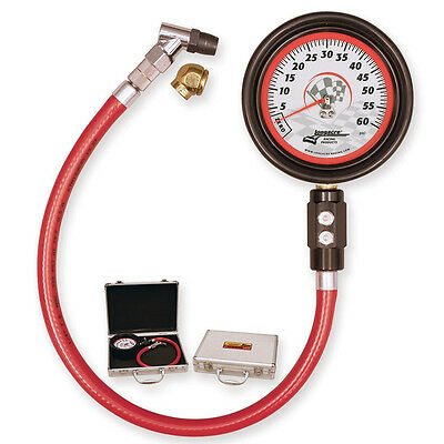 "Longacre Magnum Air Pressure Tire Gauge 0-60 Psi P/n#52001 W/case 3-1/2"" Face"