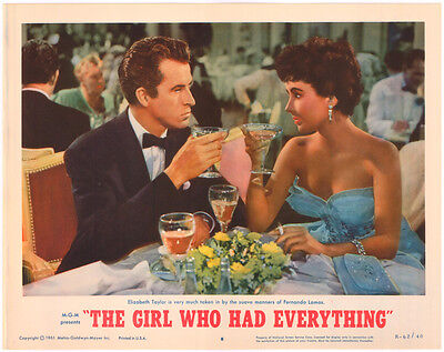 THE GIRL WHO HAD EVERYTHING LOBBY CARD size MOVIE POSTER ELIZABETH TAYLOR Card#8