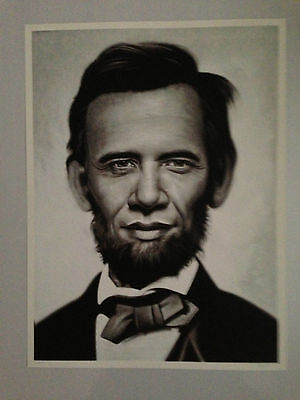 """SOLD OUT Obama Poster """"Obama X Lincoln"""" by Ron English Limited edition!"""