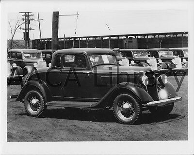 Plumbing 1934 Ford Stake Truck Crane Co Ref. # 43222 Factory Photo