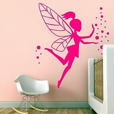 Vinilo Decorativo Para Pared Calidad Extra -Fairy 02-Rosa
