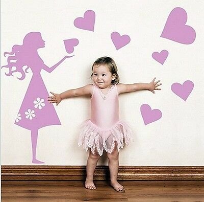 Vinilo Decorativo Para Pared Calidad Extra -Pink Girl-Rosa