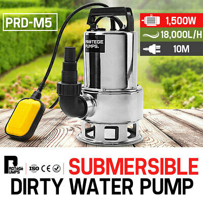 PROTEGE 1500W Submersible Dirty Water Pump Bore Septic Tank Well Sewerage