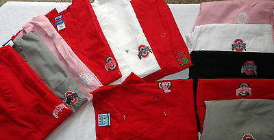 New Top, Pants or Warm-Up Jacket Embroidery Gel Scrubs College Univ of Ohio