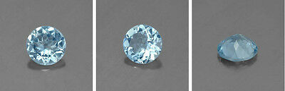 Masterpiece Collection: Round Genuine (Natural) Aquamarine (2.5 to 6mm)