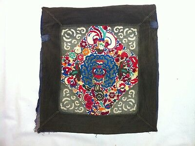 ANTIQUE TEXTILE TRIBAL MIAO BABY CARRIER HAND MADE PATCH orientaltribe 83 x 76cm