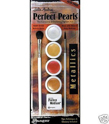 Ranger PERFECT PEARLS - METALLICS S 4 COLORS w/Medium