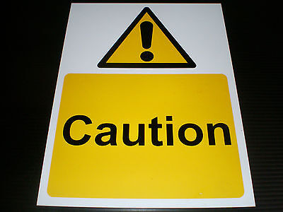 Caution Plastic Sign Or Sticker Choice Of Sizes Hazard Danger Warning Safety