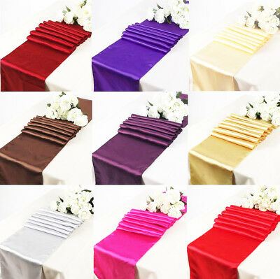 5 Satin Table Runners Sashes Cloth Chair Cover Wedding Event Hessian Sequin