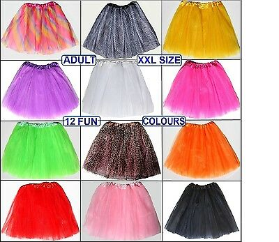 LADIES XXXL Tutu Plus Size Large  Hens Night/Parties/Events 3-Layers 50cm length