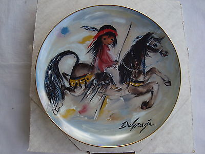 """DeGrazia Collector Plate Merry Indian 10.25"""" Num 2729 Limited Edition NIB"""