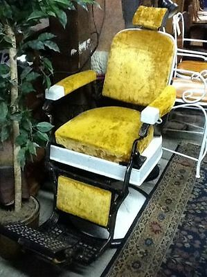 Koken Antique Barber Chair Porcelain Head & footrest