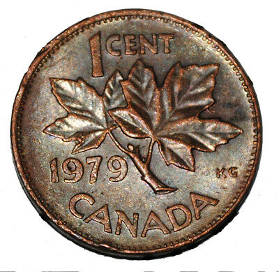 Canada 1979 1 Cent Copper One Canadian Penny Coin