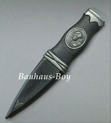 Budget Sgian Dubh Dummy Safety With Nickle Mounts Antiqued Finish New 4 Kilts