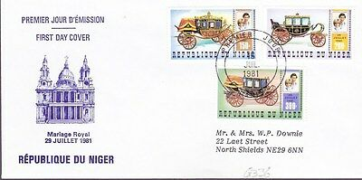 1981 Niger Royal Marriage First Day Cover Ntamey Postmark Ref: G336