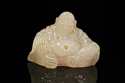 Antique Original Asian Handmade Rozkuarz Stone Buddhaa