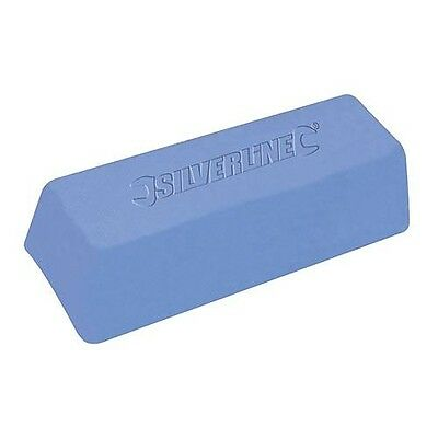 Silverline Blue Polishing Compound - Buffing Wax For Plastics & Brass  500g bar
