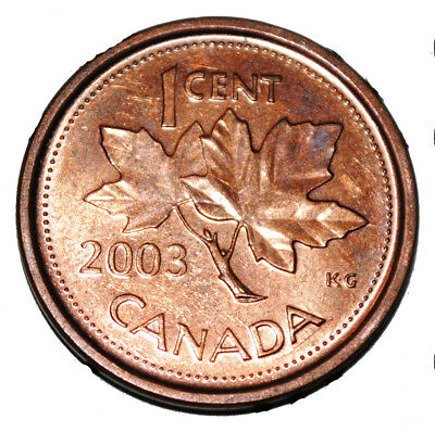 Canada 2003 P Old Effigy 1 Cent Steel One Canadian Penny Coin Magnetic