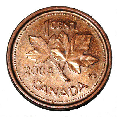 Canada 2004 P 1 Cent Steel One Canadian Penny Coin  Magnetic