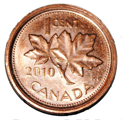 Canada 2010 L 1 Cent Zinc One Canadian Penny Coin Logo M Non Magnetic