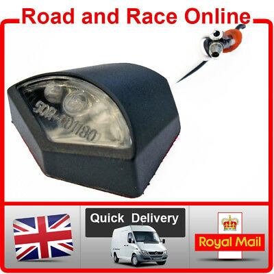 LED Number Plate LIGHT Small Emarked Black 12v Fit Many YAMAHA Motorcycles