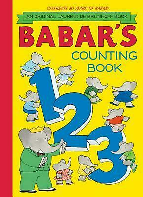 Babar's Counting Book by Laurent de Brunhoff Hardcover Book (English)