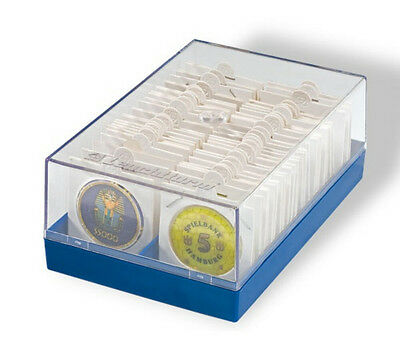 Clear Plastic STORAGE BOX  For 2x2 Cardboard Flips & Square Snap Lock Holders
