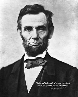 New 8x10 Civil War Photo: President Abraham Lincoln with Famous Quote