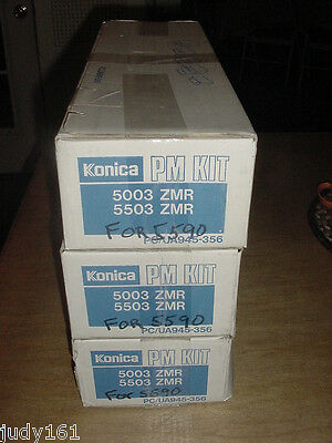 Konica 5003 5503 ZMR PM Kit PC/UA945-356 945-356 Lot of 3 NIB