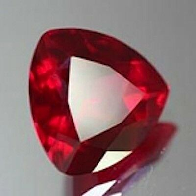 AAA Rated Trillion Faceted Bright Red Lab Created Ruby (Size 2x2mm to 14x14mm)