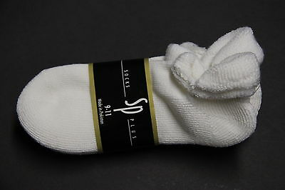 5 Pair's Low Cut Ankle Socks 9-11 White Roll Top Women's Casual No Show Sock