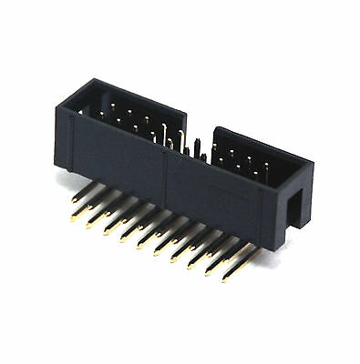 20pc IDC Cable Male Connector Box Header 90° Right Angle 2x10p 2x10 20p No Lock