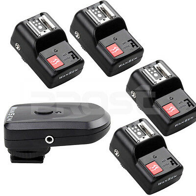 Hot PT-04 GY 4 Channels Wireless/Radio Flash Trigger SET with 4  Receivers