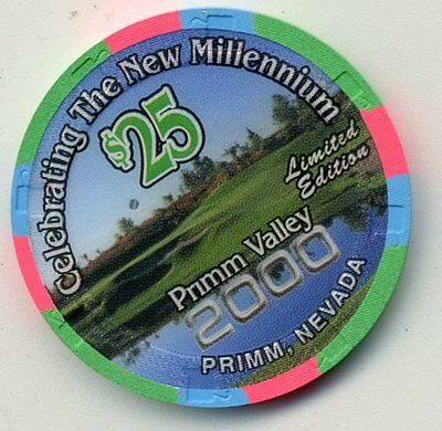 Primm Valley $25  Millennium  2000 Casino  Chip Primm Nevada