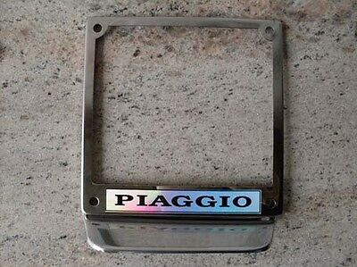 Vespa license plate holder frame VNA VNB VLB VBA VBB VBC P PX VBA GL GT V8026