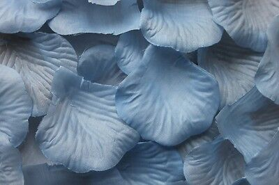 100 x LIGHT SKY BABY BLUE SILK ROSE PETALS WEDDING CONFETTI TABLE DECORATION