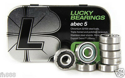 Lucky ABEC 5 Steel Balls Skateboard Longboard Bearings