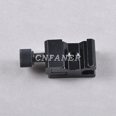 "Adjustable Camera Flash Hot Shoe Mount Adapter w 1/4"" Female Thread/ Screw Hole"