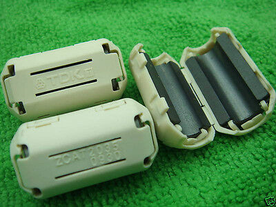 9pcs x TDK EMI Filter Ferrite Core 9mm Clip white