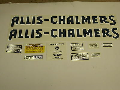 Allis Chalmers Model RC Tractor Decal Set - NEW FREE SHIPPING