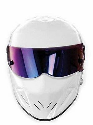 THE STIG Party Card Face Mask - Top Gear Racing Track Driver BBC White Helmet