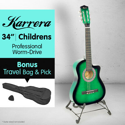 NEW GREEN CHILDRENS ACOUSTIC GUITAR IDEAL KIDS GIFT 1/2 size