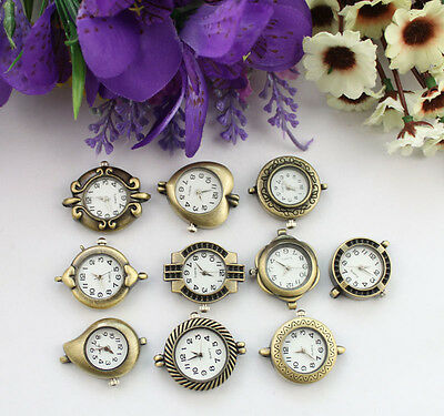 10Pcs Mixed styles of Antiqued bronze watch faces #22288